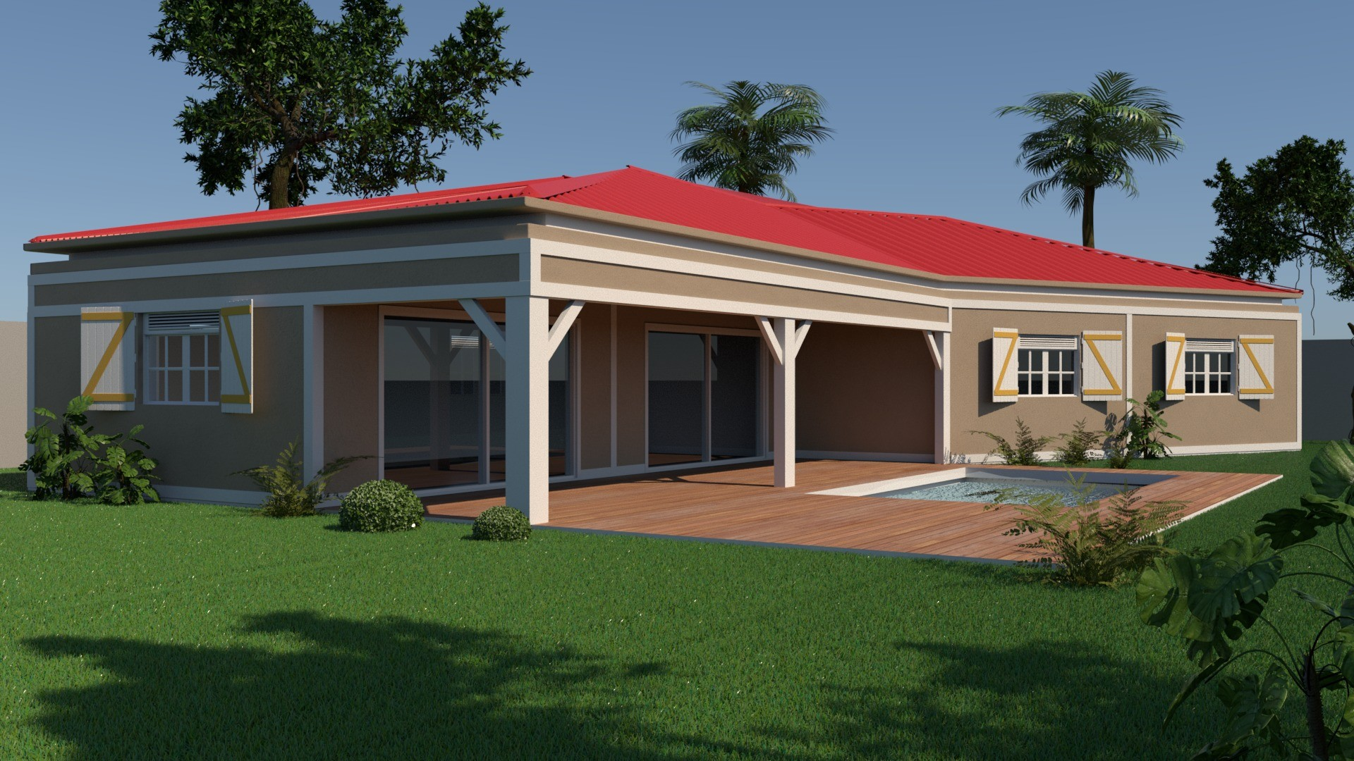 MAISON WEST INDIES ANTILLES MAISON DESIGN